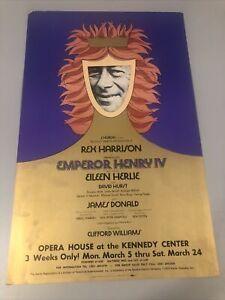 Emperor Henry IV Rex Harrison Kennedy center Broadway Window Card Poster