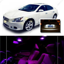 For Nissan Maxima 2009-2014 Pink LED Interior Kit +Xenon White License Light LED