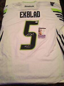 designer fashion 12e85 43587 Details about JSA Aaron Ekblad Signed 2015 Green All Star Game Jersey COA  Florida Panthers