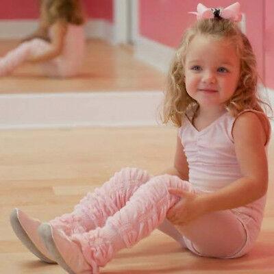 Huggalugs Solid Color Leg Ruffles Legwarmers Leggings Girls Women Dance
