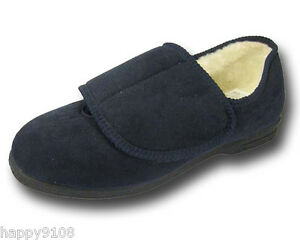 LADIES WIDE FITTING SLIPPERS EEE Size 4 5 6 7 8  COSY COMFORT