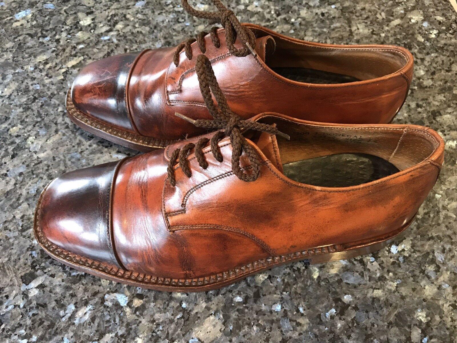 Vintage Par Of English Gentleman's Con Cordones Zapatos Oxford sería onegal 'UK7.5 -  Excelente