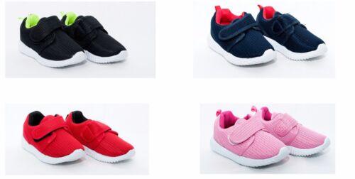 25-30 EU Boys canvas Fasteners Trainers Shoes Pumps 7.5-11 UK Girls