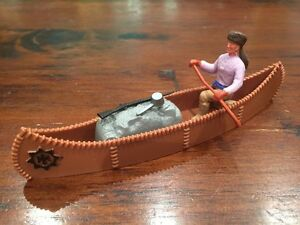 Timpo-Trapper-Chocolate-Brown-Canoe-Wild-West-1970-039-s