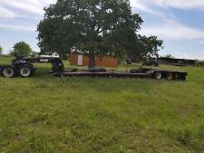 2007 pitt lowboy trailer 55 ton 3 axle 25' well with pony motor...