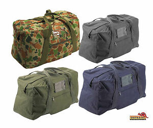 Heavy-Duty-Canvas-Army-Echelon-Duffle-Bag-26-034-60-Litre-Auscam-Black-Navy-Olive