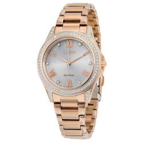 Citizen EM0233-51A Women's Eco-Drive Diamond Bezel Rose Gold Watch
