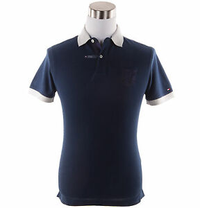 Tommy-Hilfiger-Men-039-s-Short-Sleeve-Logo-Pique-Polo-Shirt-0-Free-Ship