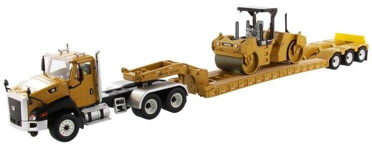 ¡No dudes! ¡Compra ahora! DCM85601 - Camion 6x4 CATERPILLAR CT660 avec semi porte porte porte engins XL120 3 essieux e  de moda
