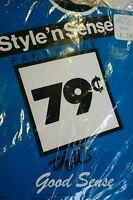 Vintage One Size Fit All Pantyhose Style'n Sense Navy Blue That's Good Sense