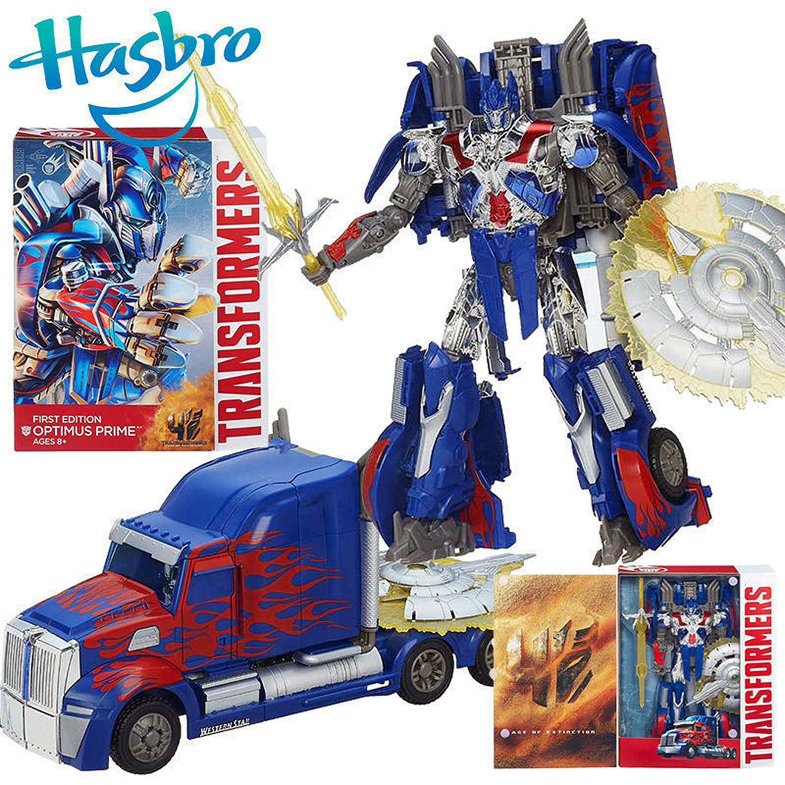 Transformers Movie 4  FIRST EDITION OPTIMUS PRIME Action Figure Kids Collection