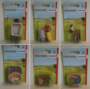 Schleich-42289-42294-Zubehoer-Schweinchen-Futter-Farm-World-zur-Auswahl-NEU-OVP