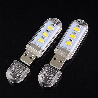 10 LED USB Light Night Flexible Lampe zum Lesen von Notebook-Laptop-Stecker I8U6
