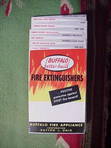 BUFFALO FIRE EXTINGUISHERS vintage 1950s Advertising PHOTO BROCHURE