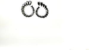 ORECCHINI-da-DONNA-x-ARGENTO-925-Brunito-con-ZIRCONI-NERI-WS-Corallo-earrings