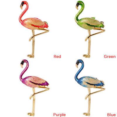 Flamingo Brooch Pin Enamel Collar Brooch Woman Badge Jewelry Brooch Accessor CP