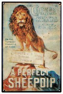 COOPER SHEEP DIP VintageTin Sign 20x 30 cm