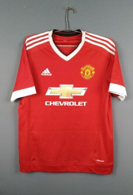Manchester United jersey Large 2015 2016 shirt AC1414 soccer Adidas ig93