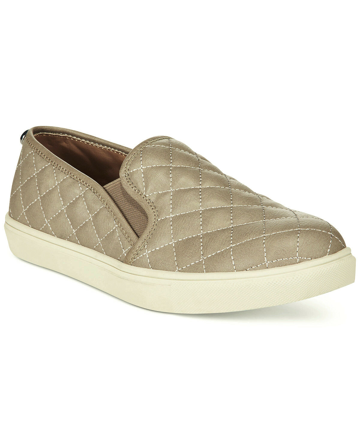 Steve Madden Ecentrcq Quilted Sneakers Slip-On Casual Schuhes Damens Grau Größe 7.5