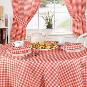 Red-rose-vichy-carreaux-nappes-rideaux-accessoires-ou-choix-de-13-objets