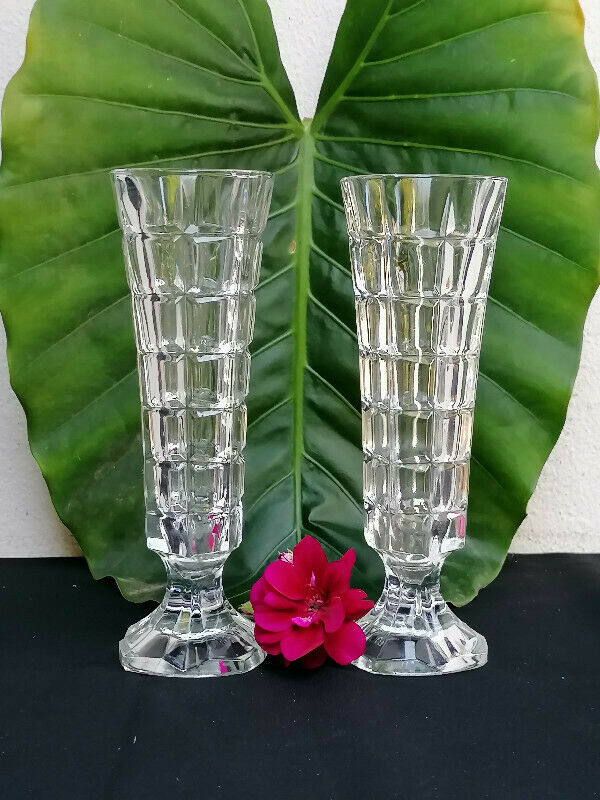 2 Small Vintage Glass vases