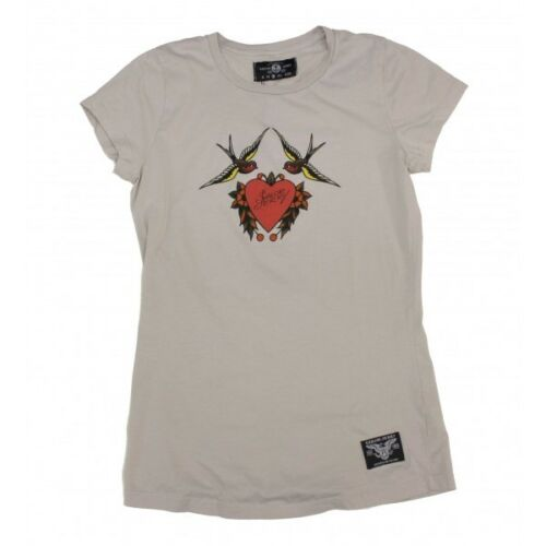 Sailor Jerry Swallows Heart Tee Shirt Punk Pinup Tattoo Gypsy Rockabilly Bettie