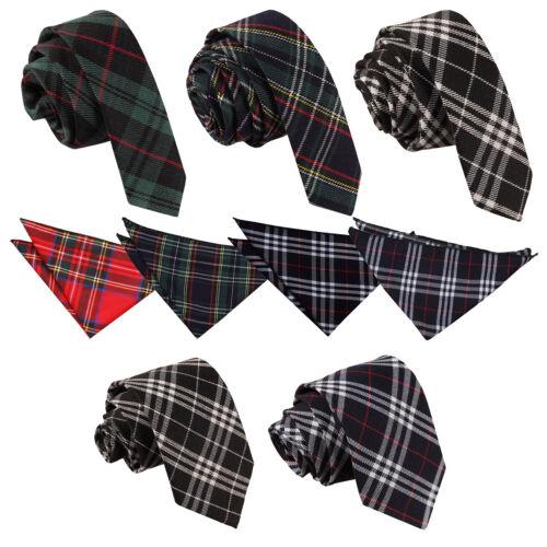 Handkerchief DQT Tartan Plaid Formal Casual Wedding Classic Skinny Men/'s Tie