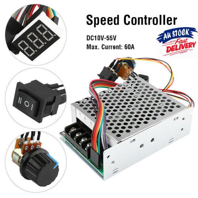 DC Motor Speed Controller Reversible PWM Control Forward/Reverse 12V 24V 48V 60A