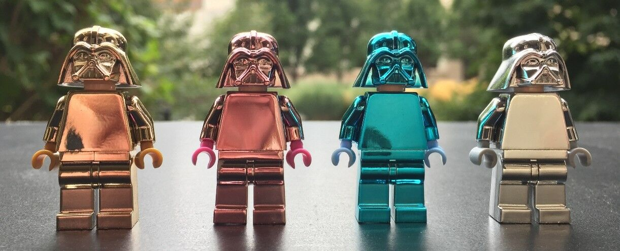 Lego Darth Vader Vader Vader Chrome Argent Rose or Bleu Authentique Personnalisé Highest 930ef3