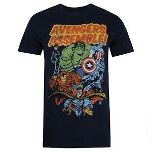 Marvel-montar-Oficial-hombres-T-Shirt-azul-marino-Tallas-S-XXL