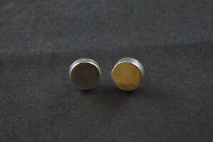 Chic Argent Sterling Rond Bloc Boucles d'oreilles - 1.7 G-afficher le titre d`origine 1ySnFJKI-09153359-229449412