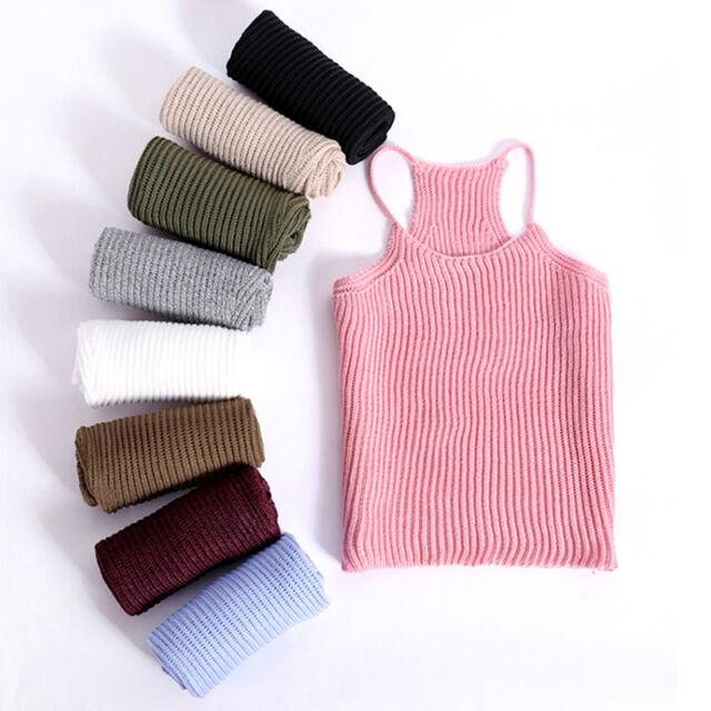 Women Crochet Halter Crop Top Bralette Knit Cami Tank Sexy Short Beach Vest
