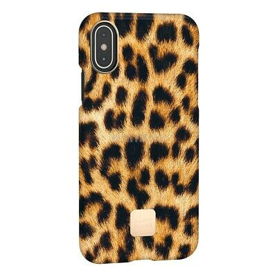 Happy Plugs Cover iPhone X/XS Leopard  Custodia per iPhone X/XS