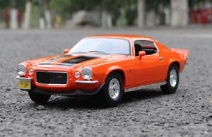 Maisto-1-18-1971-Chevrolet-Camaro-Diecast-Model-Racing-Car-NEW-IN-BOX-Orange