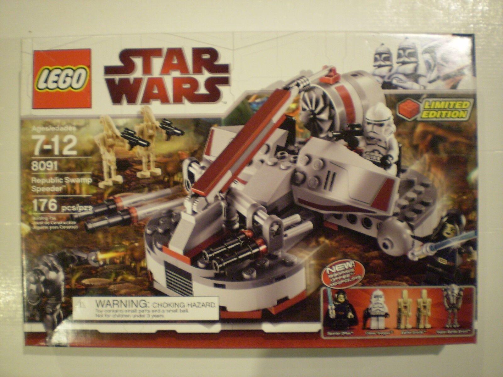 LEGO Star Wars 8091 REPUBLIC SWAMP SPEEDER NISB
