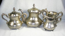 Four Pc Silverplate Teaset - Forbes Silver - Tea Pot, Sugar, Cream, Waste Bowl