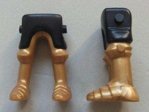 medieval knight leg 160517 leg greaves Gold /& Black 2u playmobil