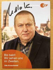 Udo-Kroschwald-Ak-ZDF-Soko-Wismar-Carte-Autographe-Original-Dedicace