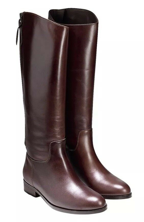 COLE HAAN women's Arlington Riding brown Leather Knee boots 6.5 M