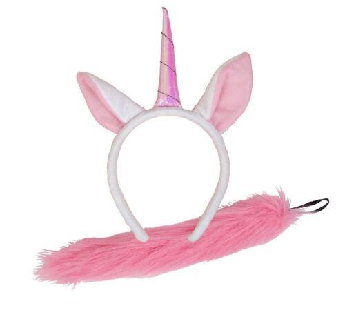 ANIMAL Ears and Tails Set Headband Fancy Dress World Book Day Farmyard TV Film
