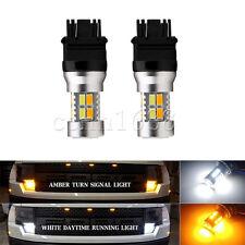 2x3157 20SMD 5730 LED Switchback Bulbs for Turn Signal light Amber White