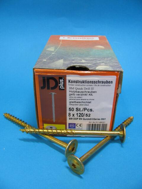 Tellerkopfschrauben,Konstruktionsschrauben, Holzbauschrauben 8 mm mit Zulassung
