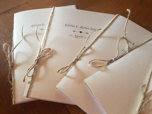 Libretto Messa Matrimonio PERSONALIZZABILEcopertina in cartoncino telato avorio