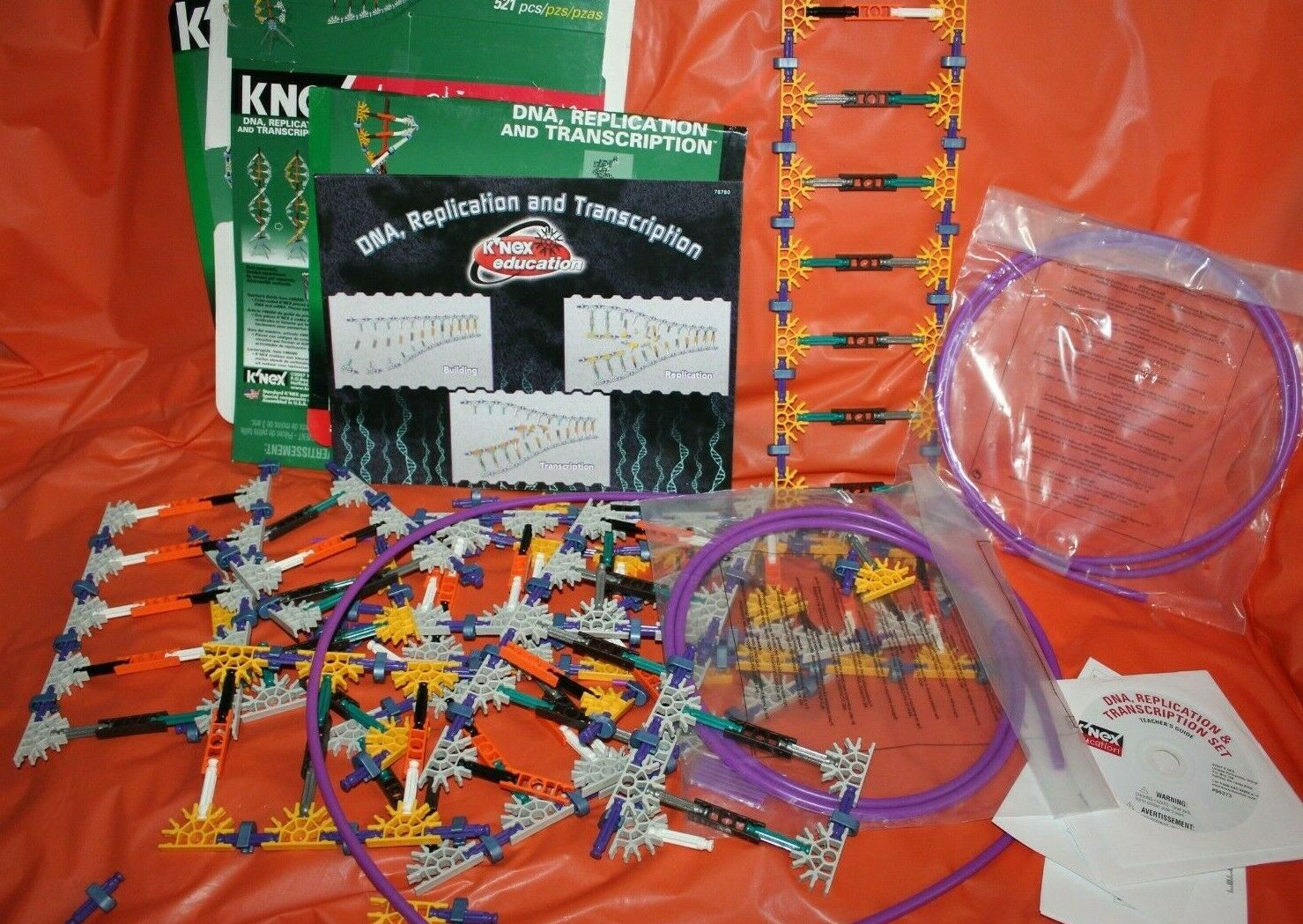 K'Nex DNA Replication And Transcription Educational Learning Toy Set + Software