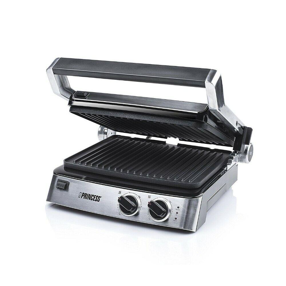 Princess 117300 Contact Grill 29x23cm 2000 W Grill électrique barbecue Sandwichmaker
