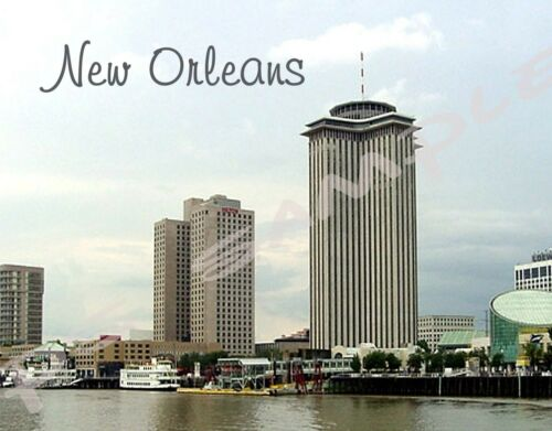 LA NEW ORLEANS Skyline Travel Souvenir Flexible Fridge Magnet