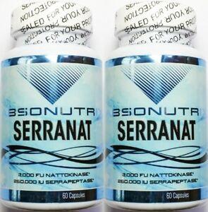 2-Serranat-2000-FU-Nattokinase-250-000-IU-Serrapeptase-120-Capsules-Absonutrix