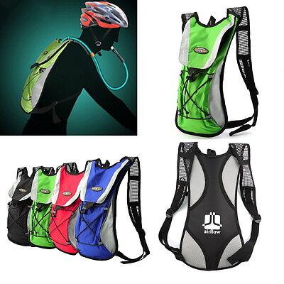 4 Colors Water Bladder Bag Rucksack Cycling Hiking Camping Sports Pack Backpa KK