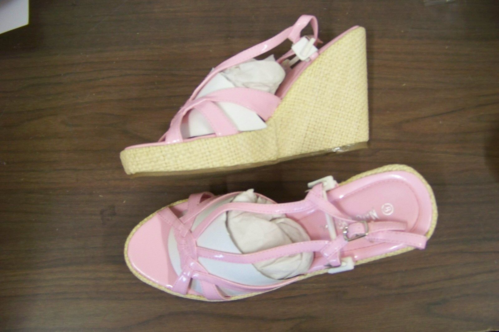 natrue wedge breeze tania pink patent strappy wedge natrue heels shoes size 8 96d4a2