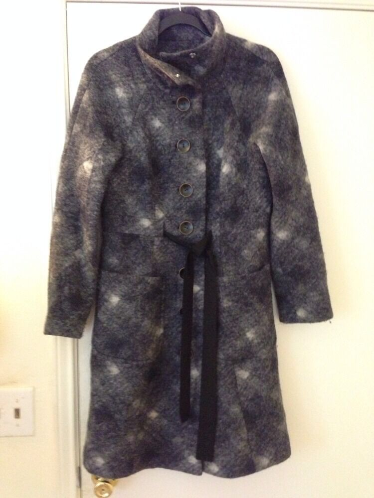 Plenty Tracy Reese Ribbon Tie Tie Tie Front Coat P S 43f698